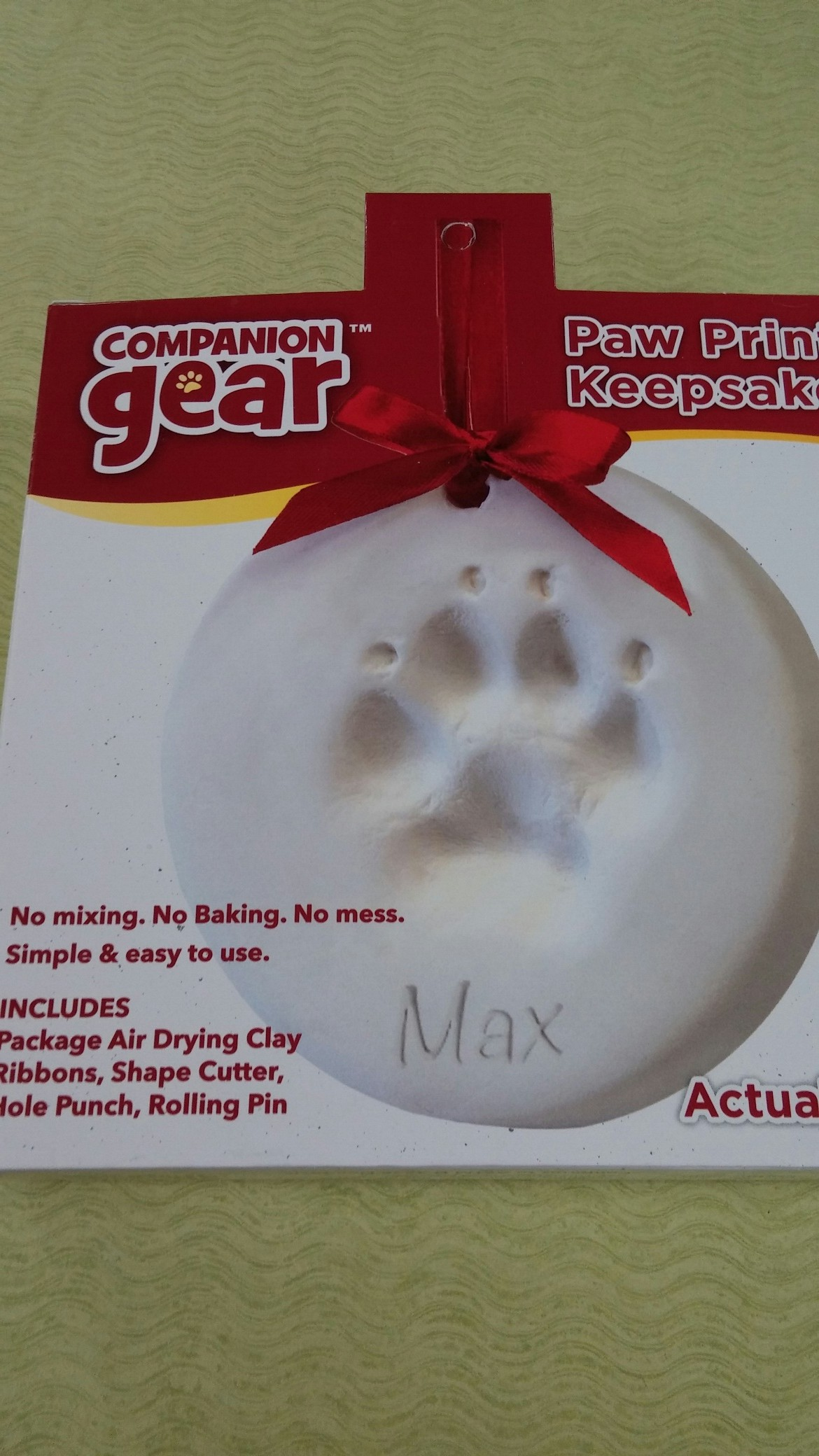 Companion Gear Paw Print Keepsake Ornament